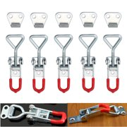 ESYNIC 5pcs Cabinet Boxes Case Lever Handle Toggle Catch Latch Lock Clamp Hasp Metal Toggle Latch Catch Hasp