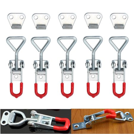 ESYNIC 5pcs Cabinet Boxes Case Lever Handle Toggle Catch Latch Lock Clamp Hasp Metal Toggle Latch Catch Hasp (Georgian Latch Handles)