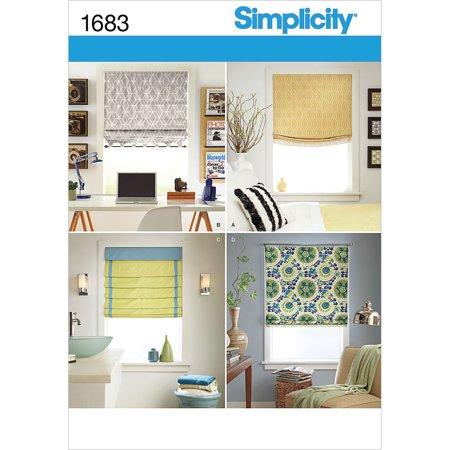 Simplicity Crafts Home Decor Roman Shades