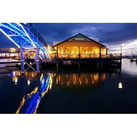 Fishermans Wharf Tavern Mariners Cove Gold Coast Queensland Australia Canvas Art - David Wall  DanitaDelimont (26 x 17) - Gold Corset