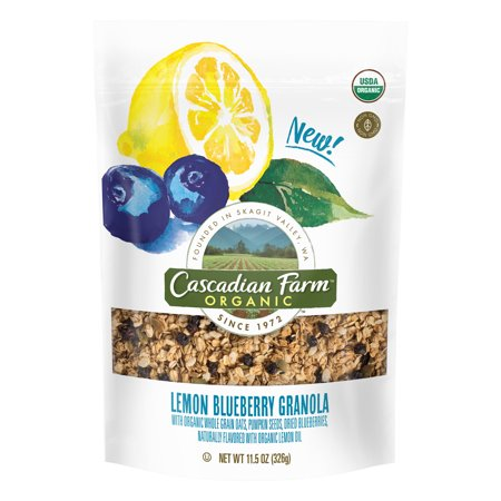- Cascadian Farm Lemon Blueberry Granola, 11.5 oz Bag