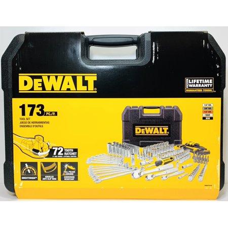 DEWALT DWMT41019 Mechanics Tool Set Full Polish Chrome 173 - Dewalt Full Range