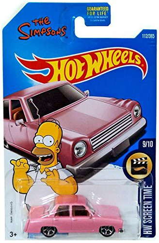 Hot Wheels 2017 HW Screen Time The Simpsons Family Car 112 365, Pink by Mattel