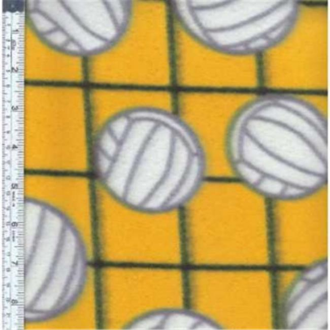 Textile Creations MFP-330-05 Sport Fleece, Volleyballs Yellow