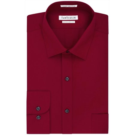 Van Heusen Mens Regular Fit Sateen Long Sleeve Dress Shirt ()