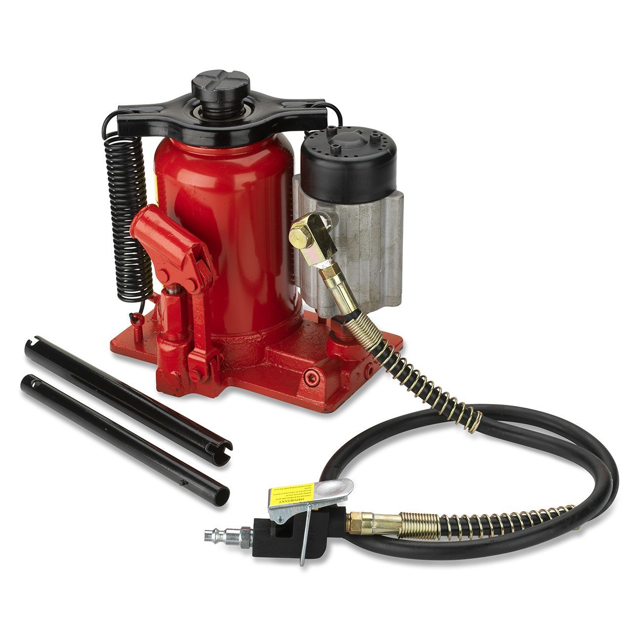 Tooluxe 20 Ton Air / Manual Pneumatic Hydraulic Low Profile Bottle Jack Lift Tool