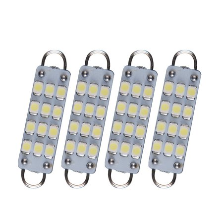 4 pcs Festoon 44mm 12-SMD 3528 Rigid Loop 1.73