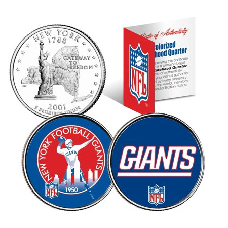 Giants Coin (NEW YORK GIANTS * Retro & Team Logo * NY Quarters 2-Coin U.S. Set NFL)