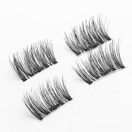 how to put on fake lashes without glue