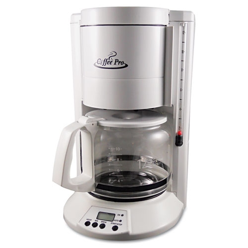 Coffee Pro Home/Office 12-Cup Coffee Maker, White CP330W