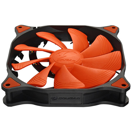 Cougar Vortex CF-V14H 140mm Hydro Dynamic (Liquid) Bearing Case Fan, Orange