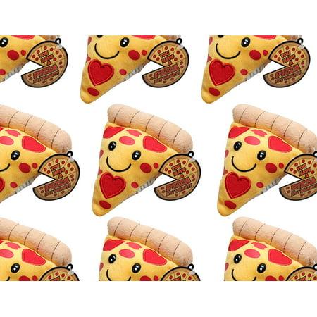Kids Toys In Bulk (Plush Pizza Slice Valentine - Cute Unique Valentines Day Cards for Kids 1 Dozen)