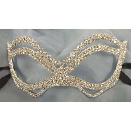 (Wedding Crystal Chevron Bridal Rhinestone Laser Venetian Masquerade Mask)