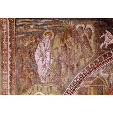 Italy Ravenna Basilica of San Vitale Moses and the Burning Bush Mosaic Canvas Art -  (24 x 36)](Moses And The Burning Bush Craft)