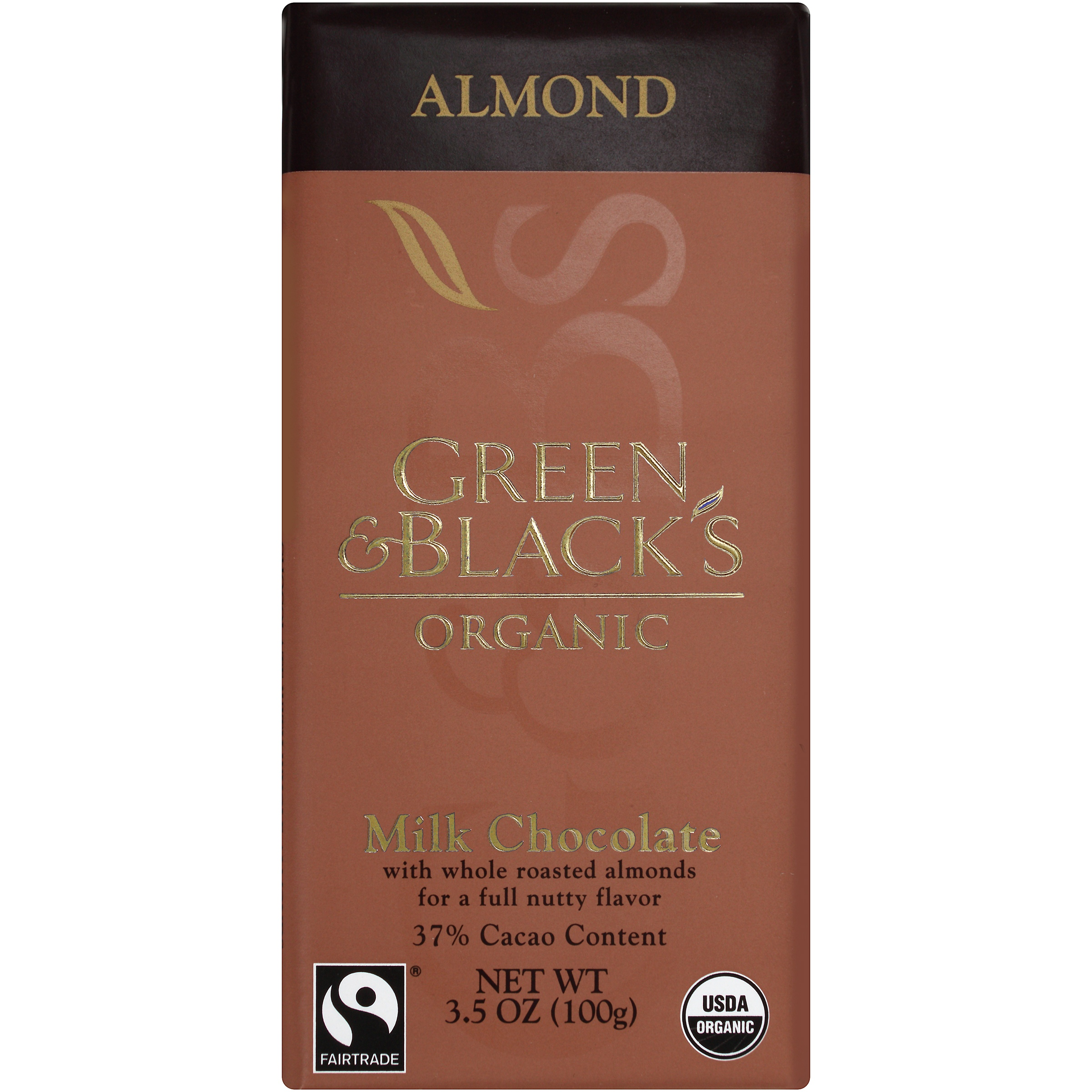 Green and Black's Organic Milk Chocolate Almond, 3.5 OZ by Mondelez Global LLC