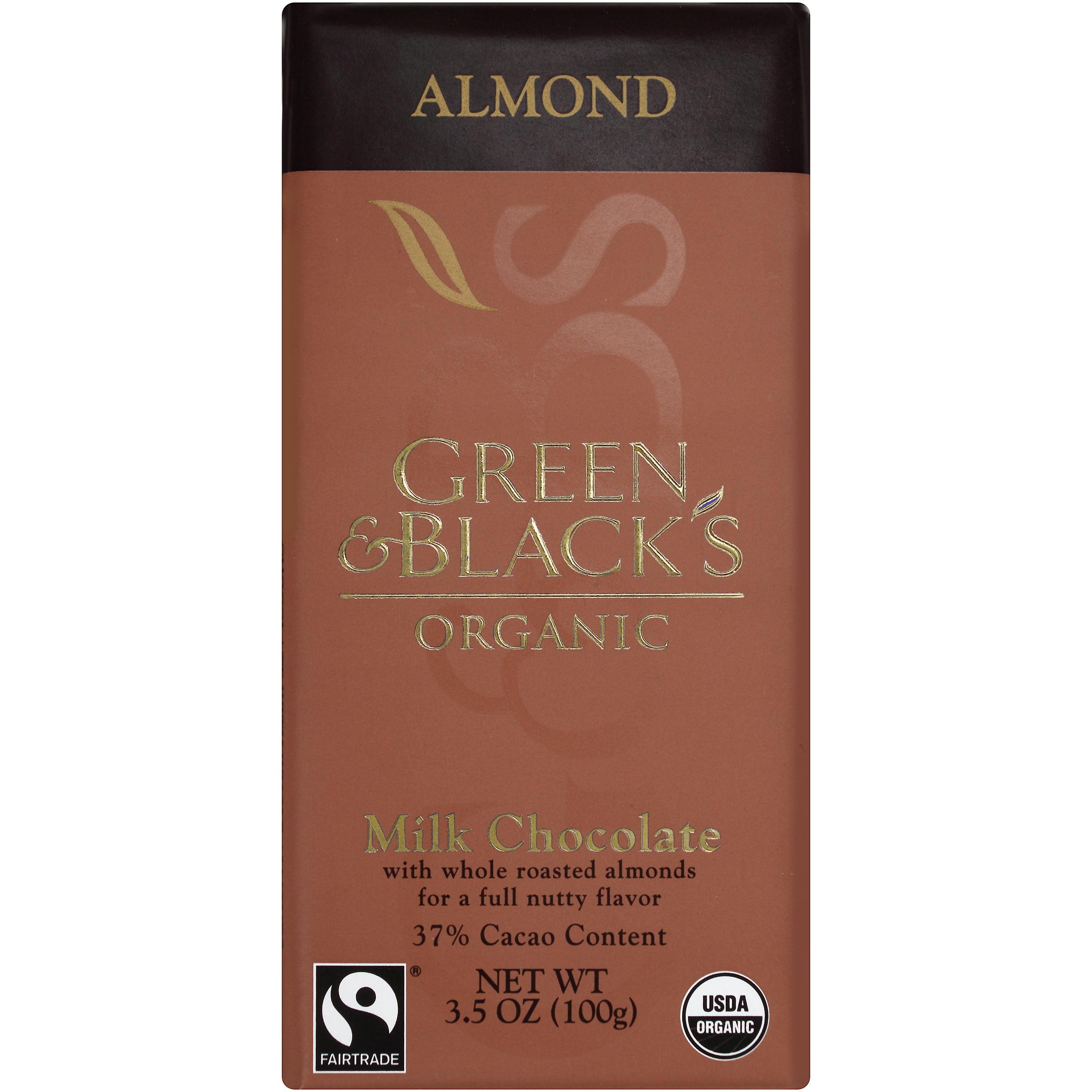 Mondelez Global Llc Green & Black's Organic Milk Chocolate Almond, 3.5 Oz