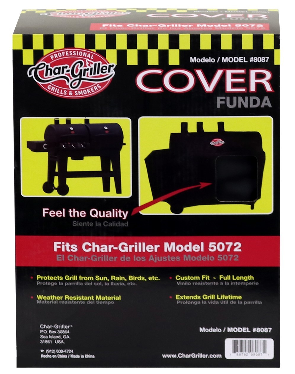 fits models E16820 Char-Griller AKORN Grill Cover Black 6755 E14822 /& E56720