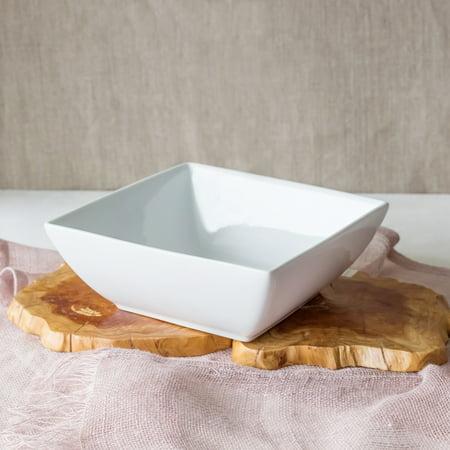 White Porcelain Bowl - Better Homes and Gardens Large Square Bowl, White Porcelain