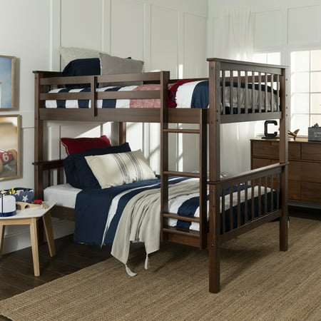 Manor Park Twin over Twin Solid Wood Mission Design Bunk Bed - (Best Bunk Bed Designs)