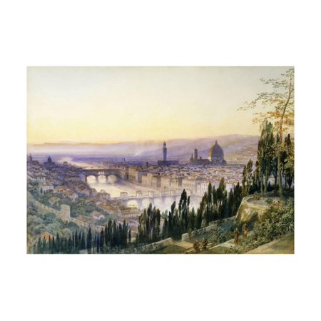Florence from San Miniato Print Wall Art By Arthur Severn ()