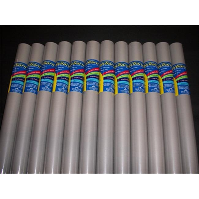RiteCo Raydiant 80201 Riteco Raydiant Fade Resistant Art Rolls Cool Gray 24 In. X 12 Ft. 12 Pack