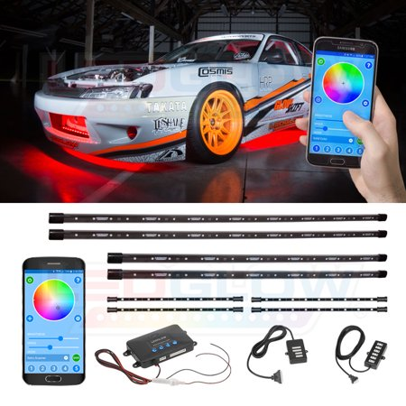 Ledglow 8pc million color smd led underbody and interior - Control lights with smartphone ...