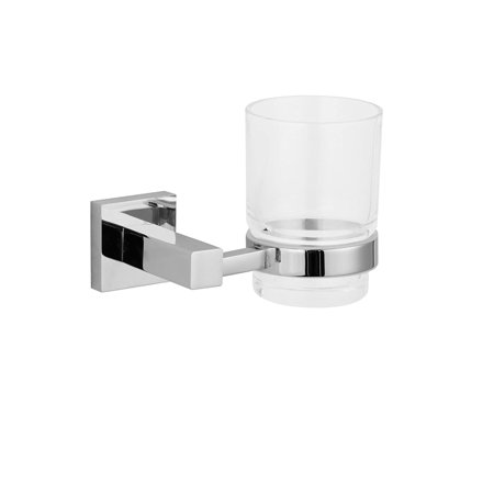 Maykke  Zane Wall Mount Tumbler, Polished Chrome