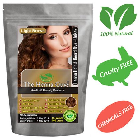 1 Pack of Light Brown Henna For Hair 100 Grams - The Henna