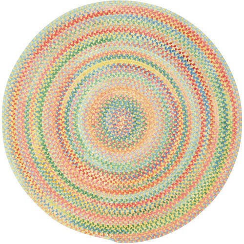 Baby's Breath Round Braided Area Rug