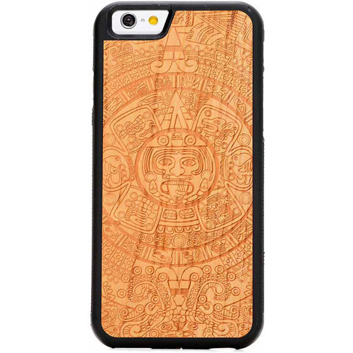 Carved Aztec Calendar Engraved Cherry Apple iPhone 6 Traveler Case
