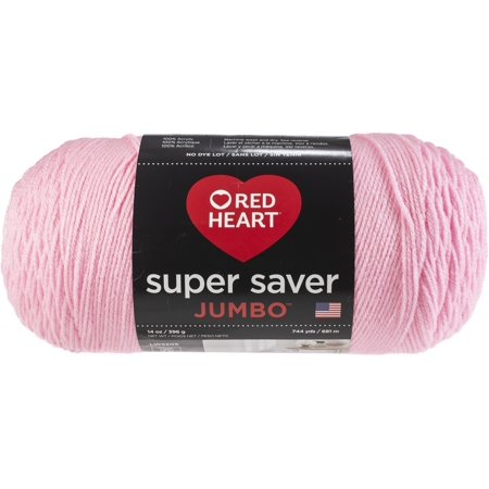 Red Heart Super Saver Jumbo Yarn, Petal Pink