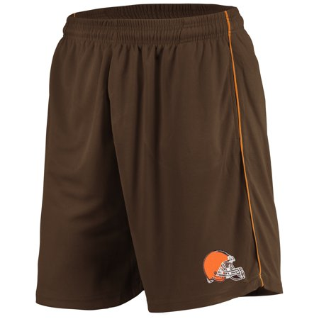 Men's Majestic Brown Cleveland Browns Mesh Shorts ()