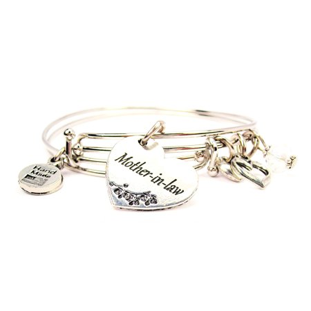Mother In Law Heart Expandable Bangle Bracelet Set, Fits 7.5 wrist, Exclusive](Mom Bangle Bracelet)