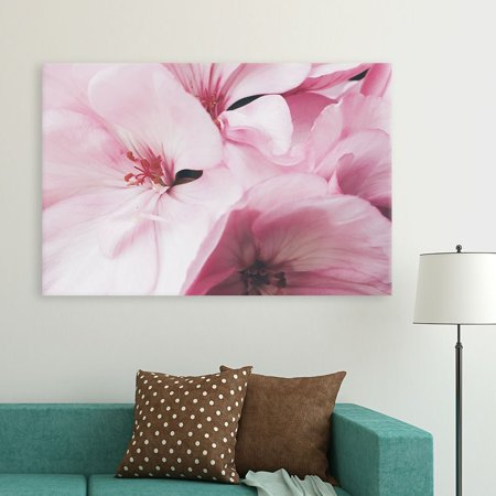 wall26 Canvas Wall Art - Pink Flower Petals - Giclee Print Gallery Wrap Modern Home Decor Ready to Hang - 12x18 inches