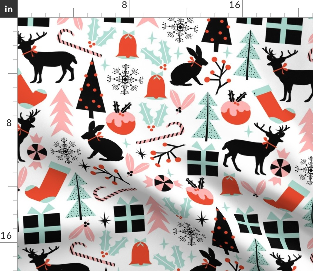 Christmas Forest Modern Holiday Decor Ornament Fabric Printed by  Spoonflower BTY - Walmart.com
