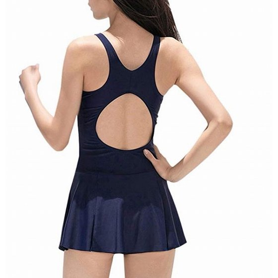 957689349dc4b Danify Swimwear - Danify Womens Medium Slimming Colorblock Swimdress ...