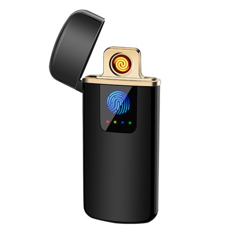 Portable Ultra-thin Windproof Touch Sensor Cigarette Lighter USB Rechargeable Metal Flameless Lighters
