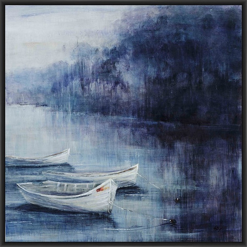 PTM Images Twilight Cove Framed Painting Print on Canvas
