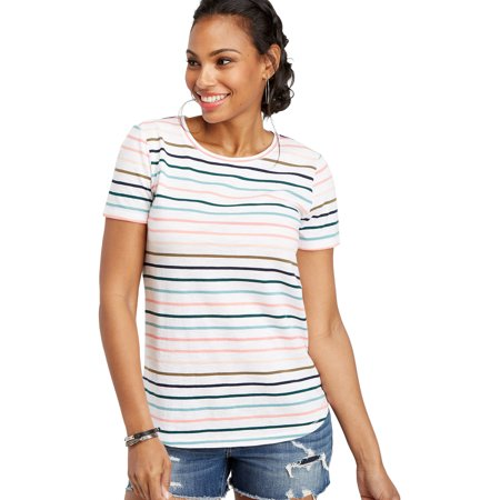 Multi Function Neck - 24/7 Crew Neck Multi Stripe Tee