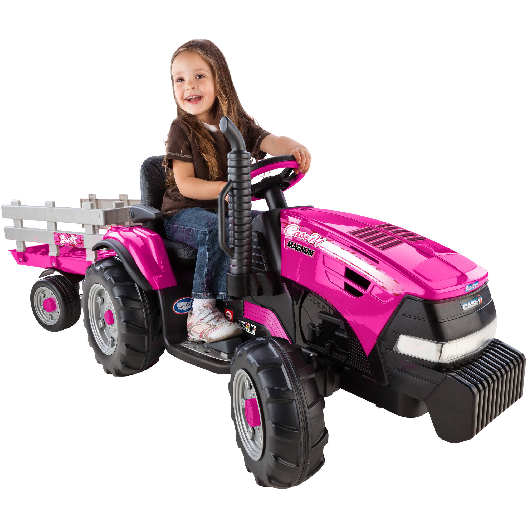 Peg Perego Ride On Toys >> Peg Perego Case Ih Tractor And Trailer Pedal Ride On Walmart Com