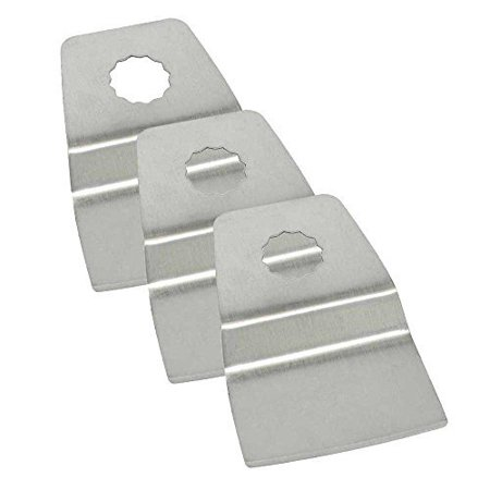 Versa Tool SB3M-D 52mm Flush Cut (8mm Offset Mount) Stainless Steel Scraper Fits Fein Multimaster, Dremel, Bosch, Craftsman, Ridgid Oscillating Tools - 3/Pack