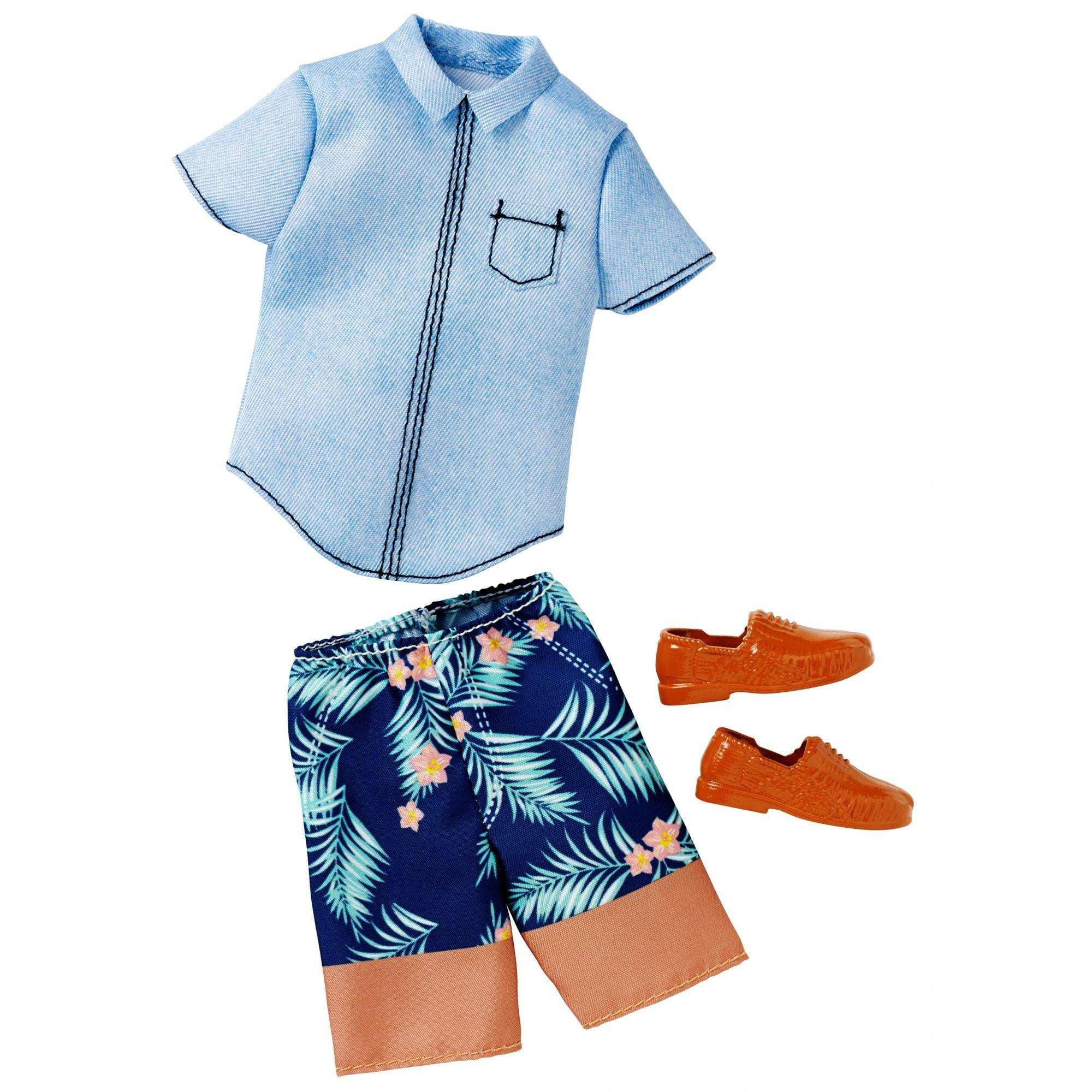 Barbie Ken Denim Shirt Shorts Fashion Pack Walmart Com Walmart Com [ 2000 x 2000 Pixel ]