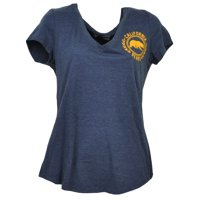 NCAA California Golden Bears Blue V Neck Tshirt Tee Womens Short Sleeve Medium