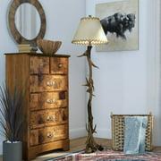 Trophy 66-Inch Floor Lamp, Natural Antler
