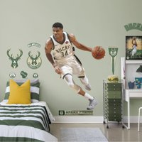 Fathead Giannis Antetokounmpo - Life-Size Officially Licensed NBA Removable Wall Decal
