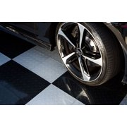 IncStores Nitro Garage Floor Tiles Diamond Plate Interlocking Flooring (24 pk) Red