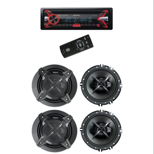 "Sony MEX-N5100BT CD/MP3 USB/AUX Car Audio Bluetooth Receiver + 4) 6.5"" Speakers"