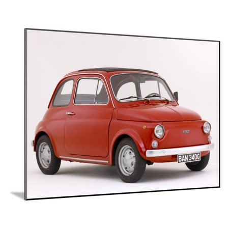 1968 Fiat 850 - 1968 Fiat 500 F Wood Mounted Print Wall Art