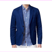 Michael Kors Men's Classic-Fit Garment Dyed Sport Coat, Tidal Blue, Size 38R