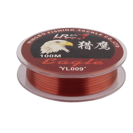 Red Spool - Fisherman Nylon Tensile Angling Fishing Line Reel Spool Wire Red 100m Long